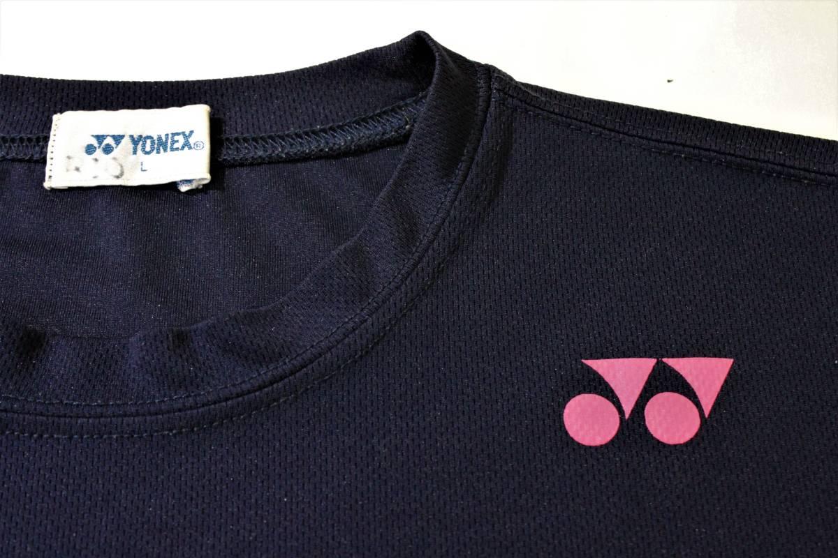 ◆YONEX ヨネックス◆半袖 吸汗速乾 Tシャツ ネイビー:L _画像5