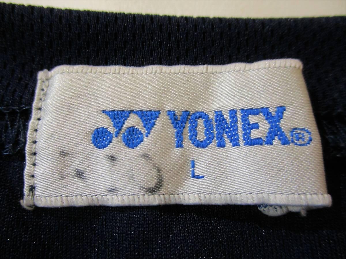 ◆YONEX ヨネックス◆半袖 吸汗速乾 Tシャツ ネイビー:L _画像7