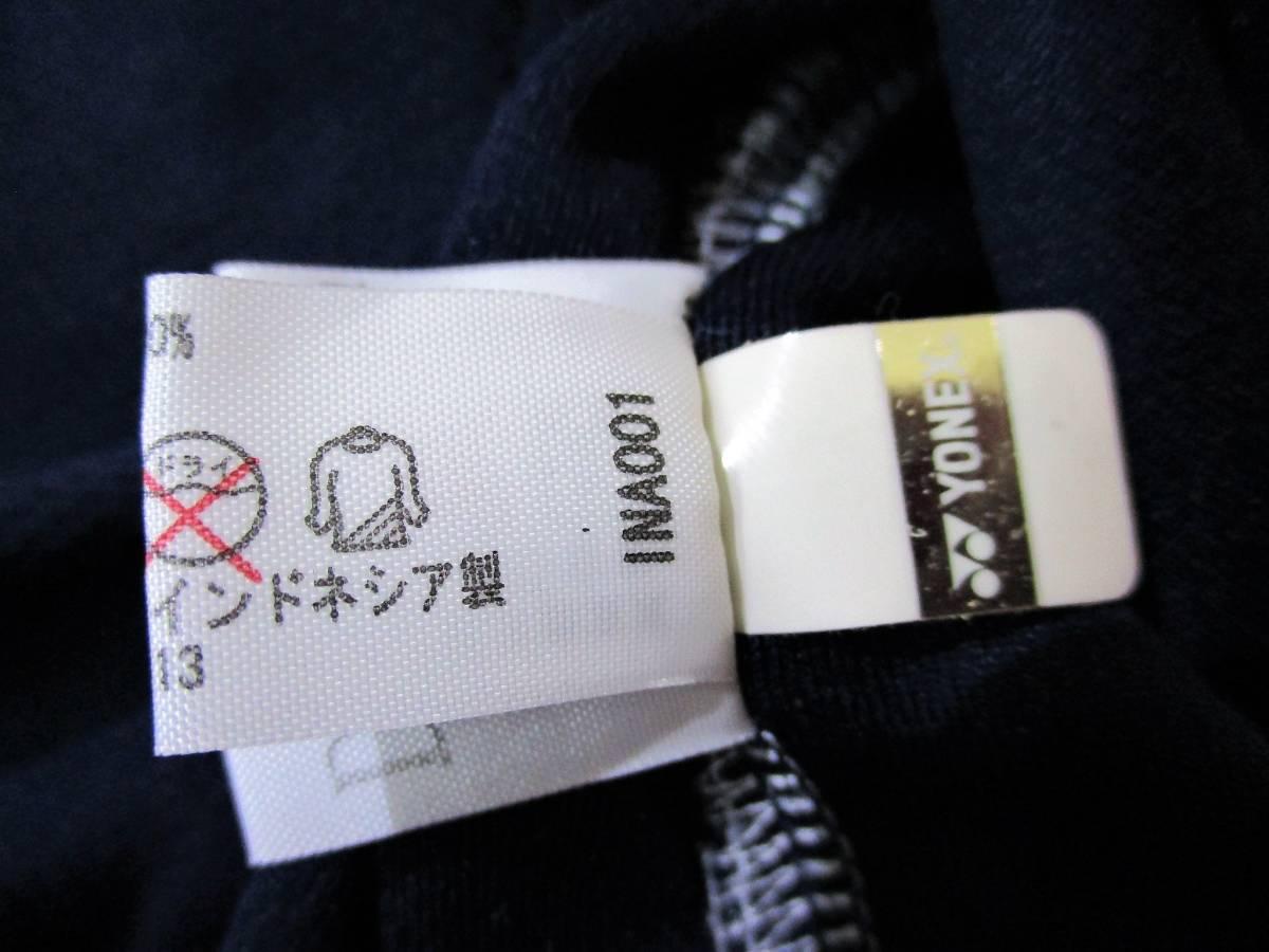 ◆YONEX ヨネックス◆半袖 吸汗速乾 Tシャツ ネイビー:L _画像10