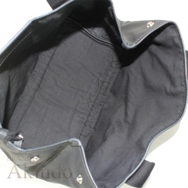 バレンシアガ ネイビーカバ S ハンドバッグ トートバッグ 黒 ブラック ソフトレザー レディース 339933 BALENCIAGA_画像8