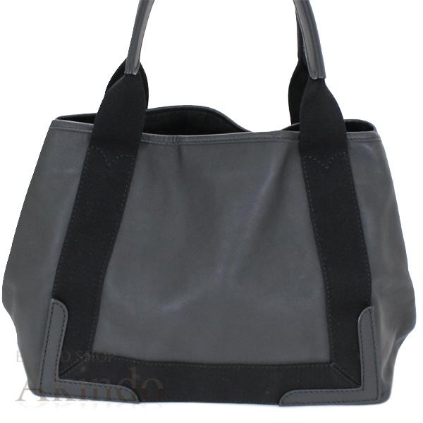 バレンシアガ ネイビーカバ S ハンドバッグ トートバッグ 黒 ブラック ソフトレザー レディース 339933 BALENCIAGA_画像4