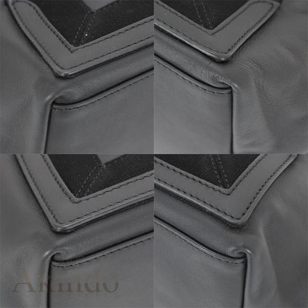バレンシアガ ネイビーカバ S ハンドバッグ トートバッグ 黒 ブラック ソフトレザー レディース 339933 BALENCIAGA_画像10