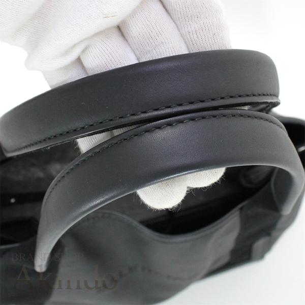 バレンシアガ ネイビーカバ S ハンドバッグ トートバッグ 黒 ブラック ソフトレザー レディース 339933 BALENCIAGA_画像6