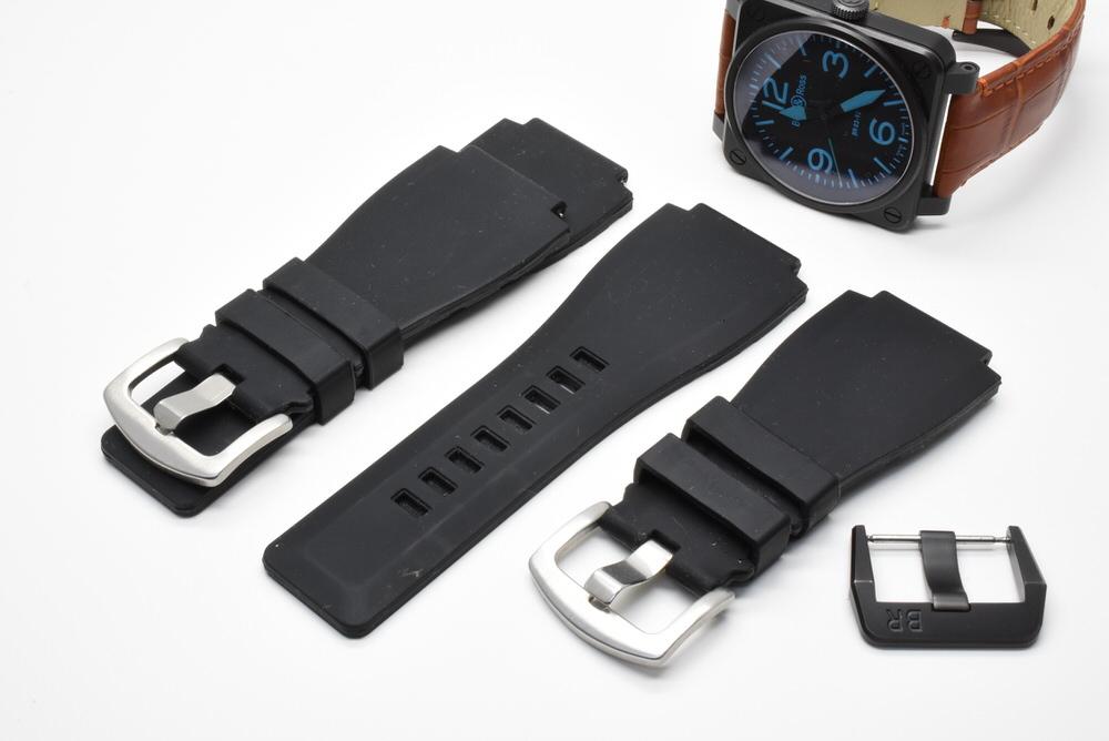 ベル&ロス Bell&Ross BR03-92 オートマティック 青 ブルー 黒 ブラック メンズ 42mm PVD 自動巻 高級腕時計 かっこいい オシャレ 美品_画像8