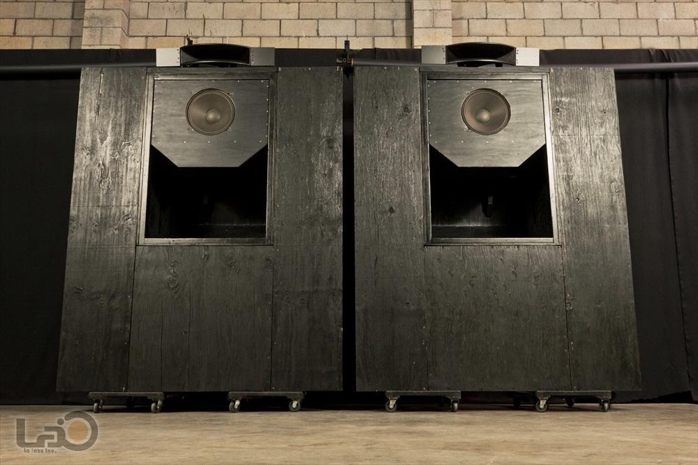 Jim B Lansing by Ampex Model 5030/550 ジムラン劇場用スピーカー 2ウェイ2スピーカー特大バックロードホーン型・劇場用システム_画像4