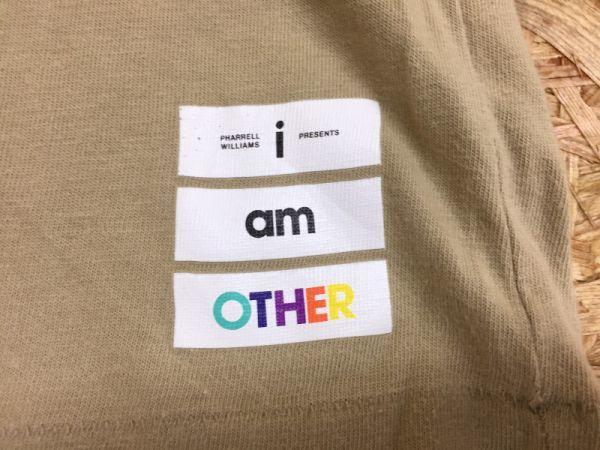 【送料240円】UNIQLO Pharrell Williams i am OTHER ファレルウィリアムス ユニクロ 半袖Tシャツ メンズ コラボ コットン100% M ベージュ_画像2