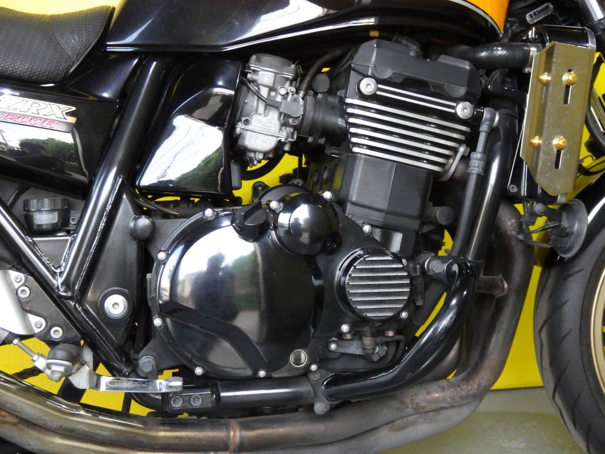 ばいく屋いちばん カワサキ ZRX1200R ディアブロブラック 2008年カラー 車検対応 SP忠男マフラー ローンOK_画像3