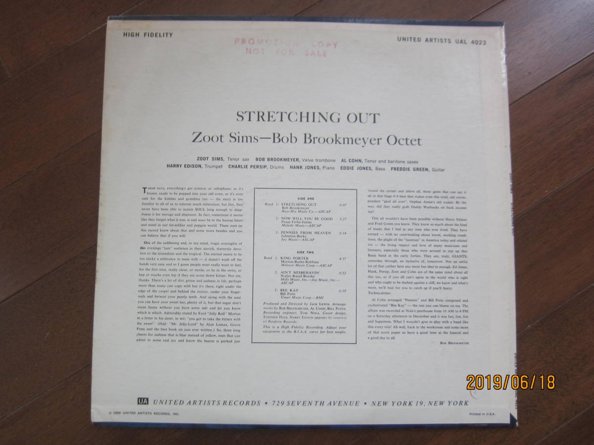 ◆ Zoot Sims/Streching Out レア 白プロモ 美品 超すごい音 ◆_画像2