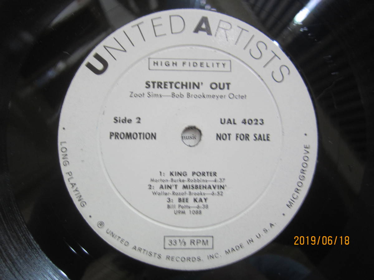 ◆ Zoot Sims/Streching Out レア 白プロモ 美品 超すごい音 ◆_画像4
