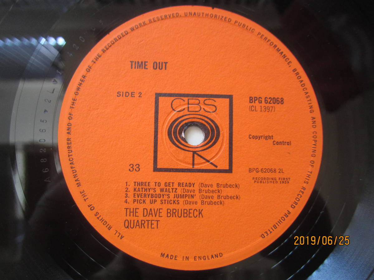 ◆ Dave Bluebeck/Time Out UKオリジナル モノラル 超美盤 すごい音 ◆_画像4