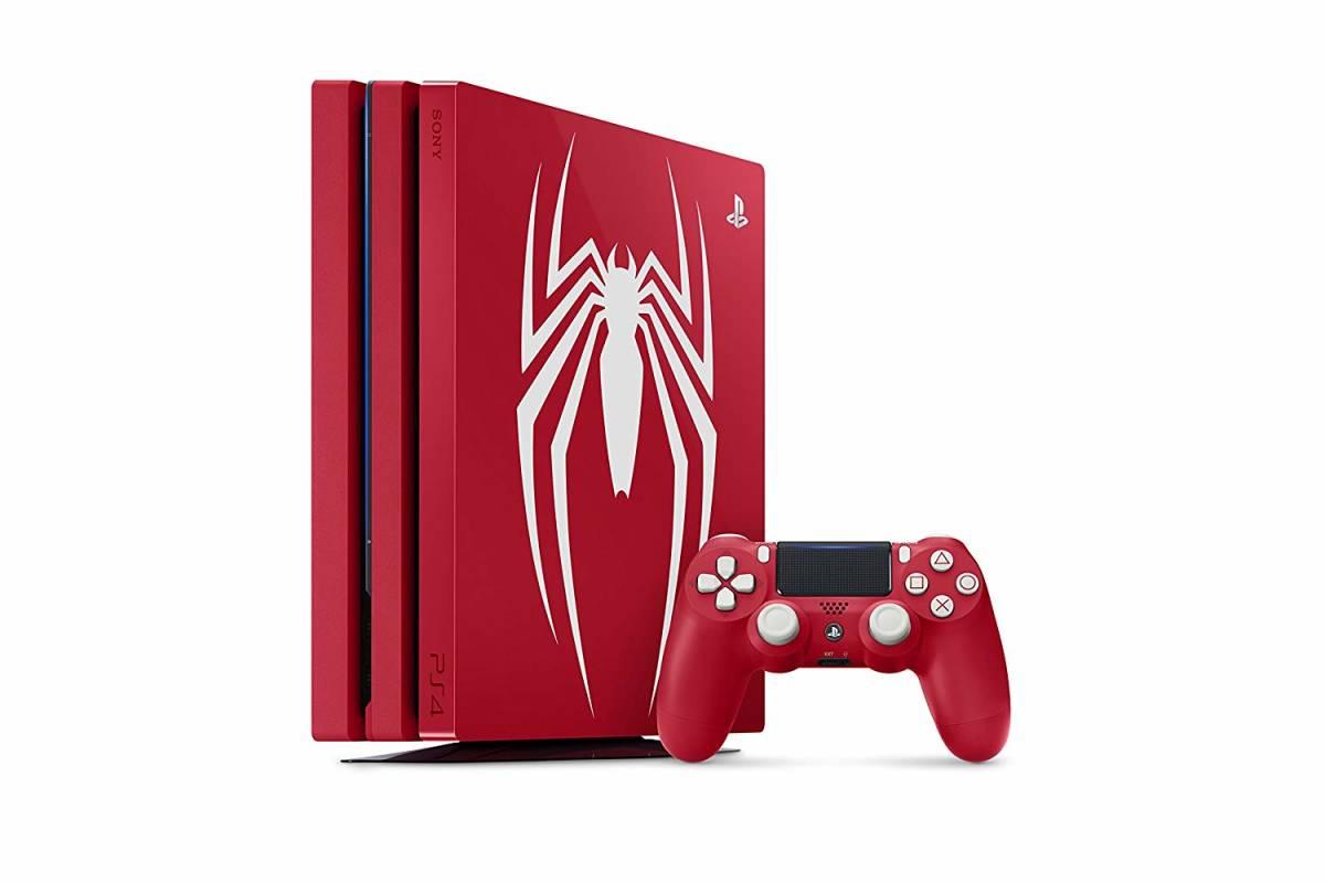 PlayStation 4 Pro Marvel's Spider-Man Limited Edition ソフト無 スパイダーマン マーベル 1TB