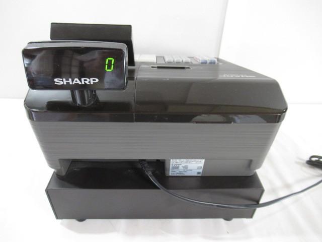 ■中古■比較的美品 SHARP/シャープ 電子レジスター Model:XE-A207B-B 動作・印字確認済_画像9