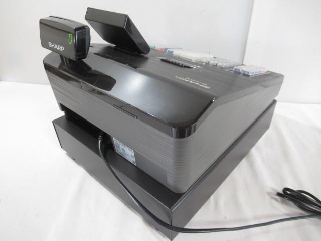 ■中古■比較的美品 SHARP/シャープ 電子レジスター Model:XE-A207B-B 動作・印字確認済_画像2