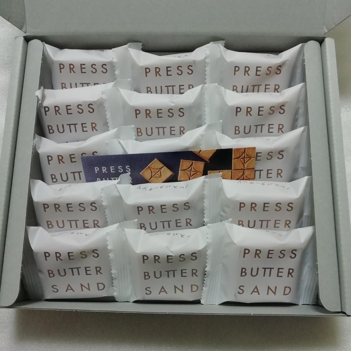 大人気 プレスバターサンド 15個 箱無し 送料無料_画像1