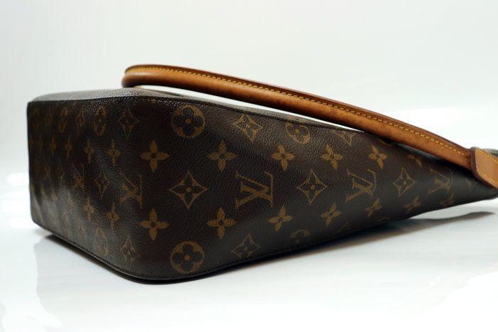 【美品】ルイヴィトン Louis Vuitton モノグラム ルーピングGM ショルダーバッグ レディース レザー 鞄 定価約15万円_画像4