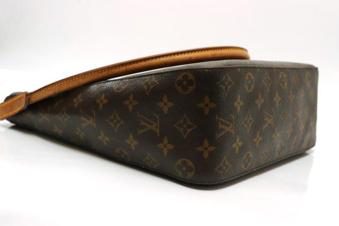 【美品】ルイヴィトン Louis Vuitton モノグラム ルーピングGM ショルダーバッグ レディース レザー 鞄 定価約15万円_画像5