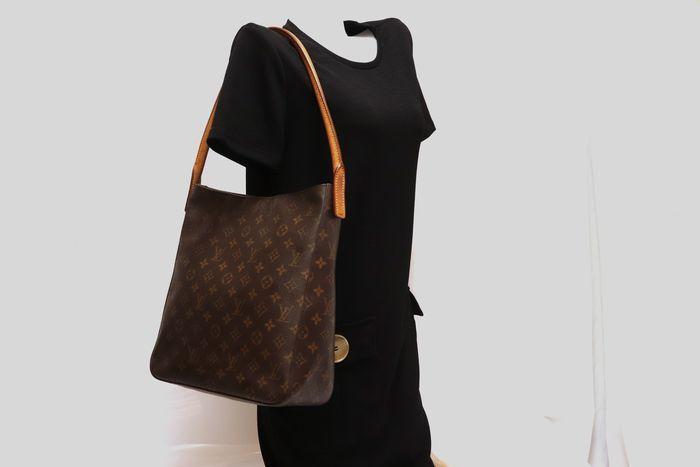 【美品】ルイヴィトン Louis Vuitton モノグラム ルーピングGM ショルダーバッグ レディース レザー 鞄 定価約15万円_画像10