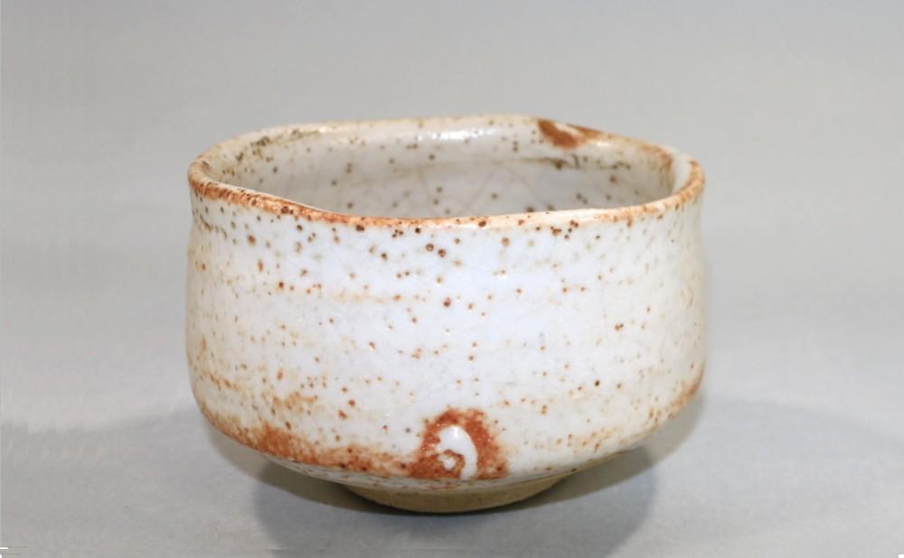 茶道具 志野茶碗 水野古麦造◆sf16_画像4