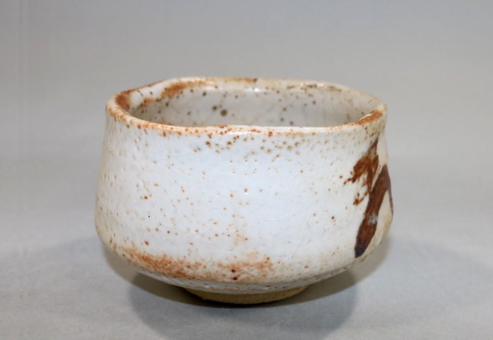 茶道具 志野茶碗 水野古麦造◆sf16_画像5