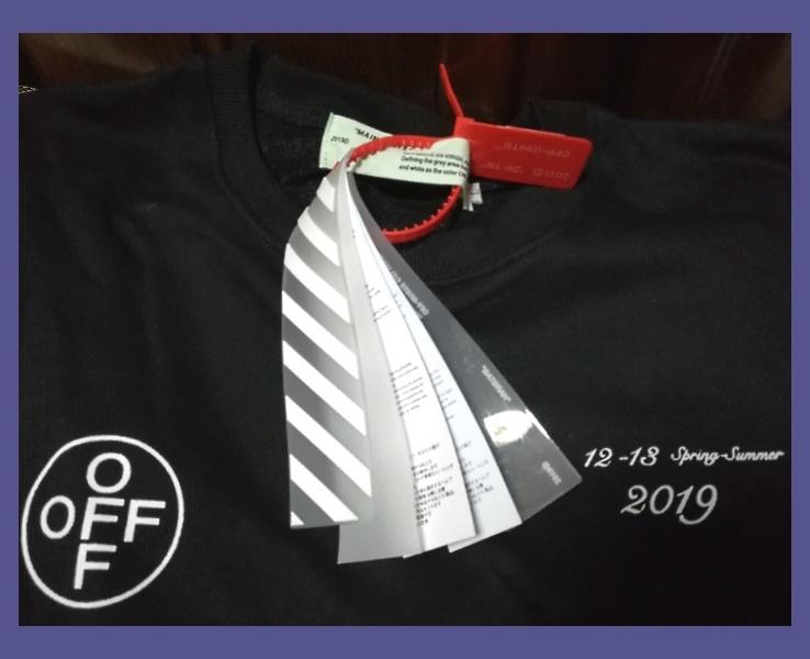【掘り出し物】希少~ロング Tシャツ~★☆ 2019SS Diag Stencil ☆★ ~オフ・ホワイト☆ ~♪_画像3