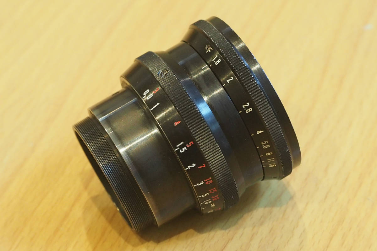 ★ジャンク★ 映画用 業務用レンズパーツその2 シネレンズ P. ANGENIEUX PARIS 50mm F1.8 TYPE S2 _画像2