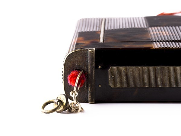 【S】古美術品 総本鼈甲細工 タバコケース うぶ品 f059_画像3