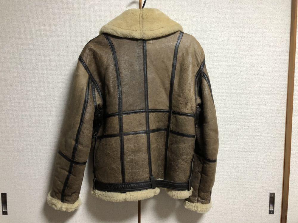 AVIREX ボンバージャケット/レザー/ムートン/ヴィンテージ物/サイズ40 中古 美品_画像4