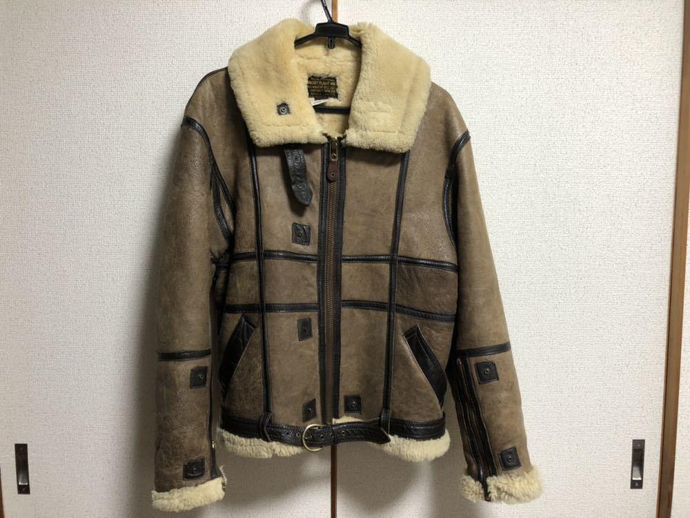 AVIREX ボンバージャケット/レザー/ムートン/ヴィンテージ物/サイズ40 中古 美品