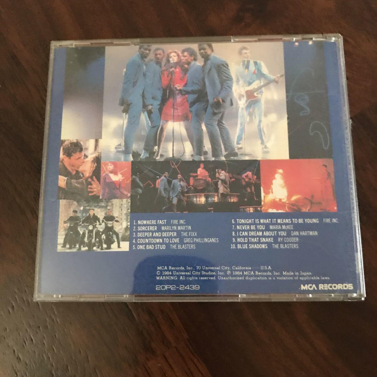 ストリート オブ ファイヤー CD オリジナル・サウンドトラック c54_画像2