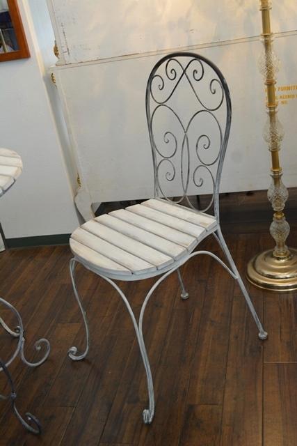 2036r25 アイアンカフェ/ガーデンテーブルセット アンティーク風シャビーシック優雅なデザインテーブルセットで素敵なアフタヌーンティーを_画像7