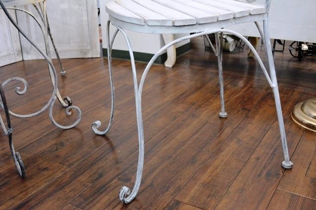 2036r25 アイアンカフェ/ガーデンテーブルセット アンティーク風シャビーシック優雅なデザインテーブルセットで素敵なアフタヌーンティーを_画像10