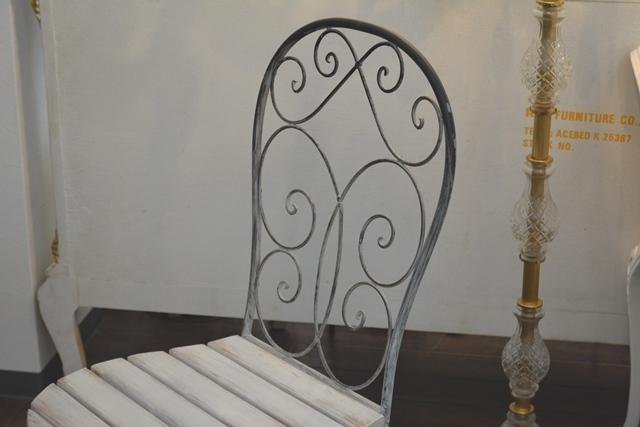 2036r25 アイアンカフェ/ガーデンテーブルセット アンティーク風シャビーシック優雅なデザインテーブルセットで素敵なアフタヌーンティーを_画像8