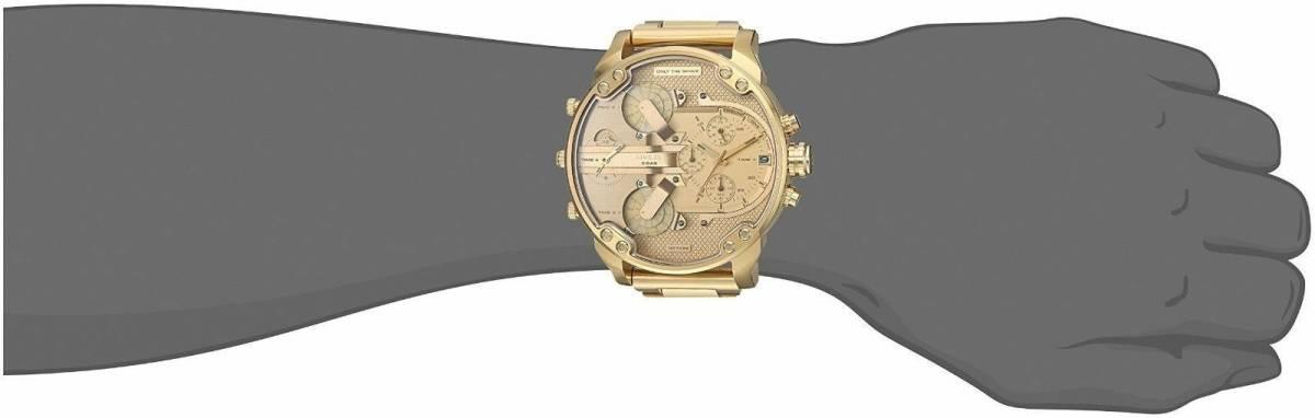 DIESEL 時計 腕時計 ディーゼル クロノグラフGMTメンズ DZ7399 Mr. Daddy 57mm 新品 未使用 保証つき_画像9