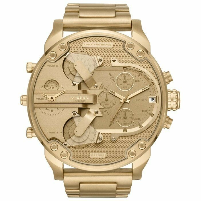 DIESEL 時計 腕時計 ディーゼル クロノグラフGMTメンズ DZ7399 Mr. Daddy 57mm 新品 未使用 保証つき_画像3