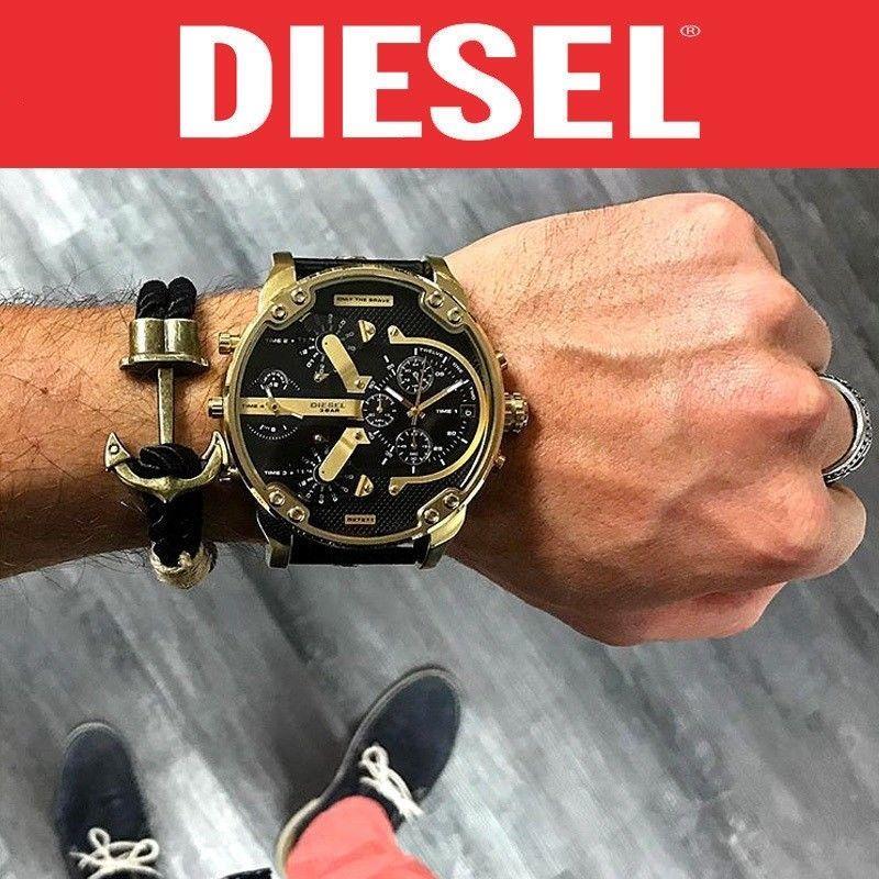 DIESEL 時計 腕時計 ディーゼル クロノグラフGMTメンズ DZ7333 Mr. Daddy 57mm 新品 未使用 保証つき