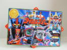 that time thing 2000 year BANDAI shop front for advertisement POP Mirai Sentai Time Ranger .. thing not for sale signboard .. pop