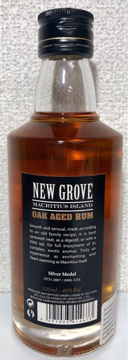 NEW GROVE OAK AGED RUM モーリシャス産 ラム酒 330ml 40% オーク樽熟成_画像2