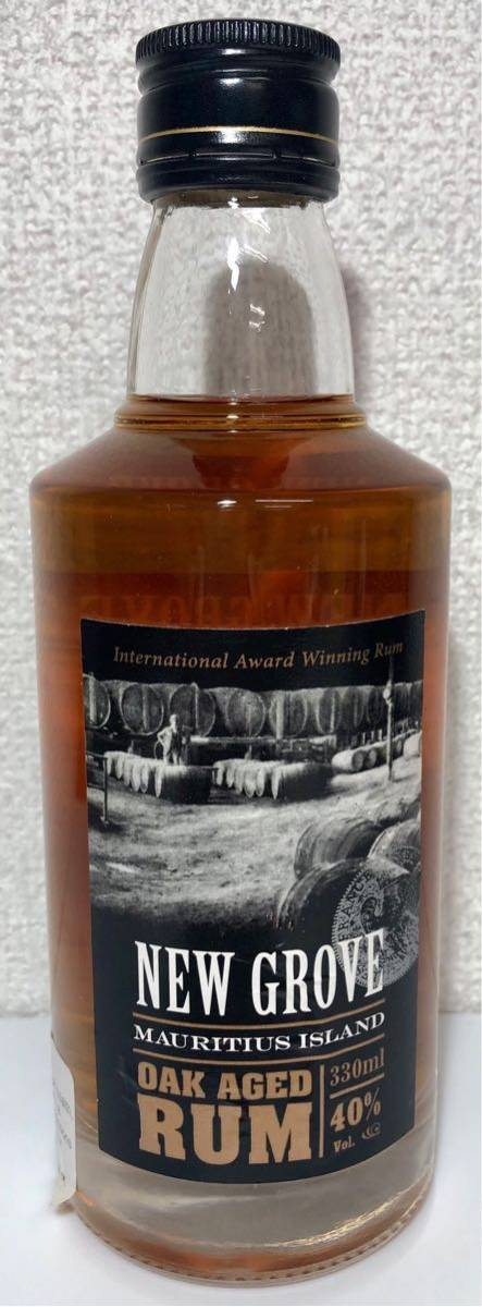 NEW GROVE OAK AGED RUM モーリシャス産 ラム酒 330ml 40% オーク樽熟成