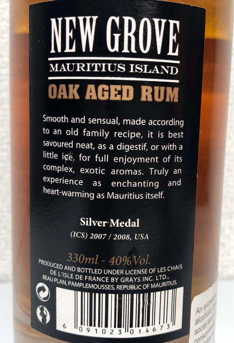 NEW GROVE OAK AGED RUM モーリシャス産 ラム酒 330ml 40% オーク樽熟成_画像4