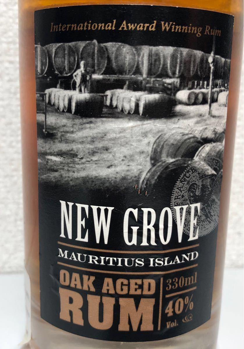 NEW GROVE OAK AGED RUM モーリシャス産 ラム酒 330ml 40% オーク樽熟成_画像3