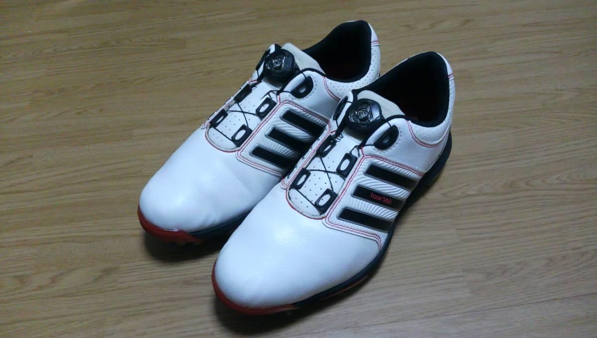 ★美品★ adidas ゴルフシューズ tour 360 Boa Q47060 25.0㎝