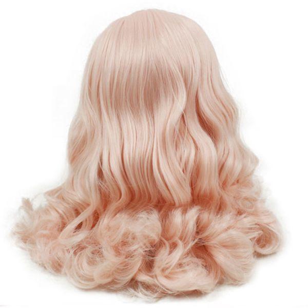 bl067【Blytheカスタム】ブライス・ ロングパーマ頭皮付きヘアー(薄ピンク色)_画像1