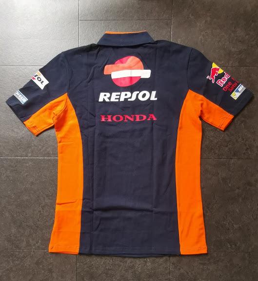 REPSOL HONDA レプソル ホンダ ポロシャツ Mサイズ ネイビー_画像3