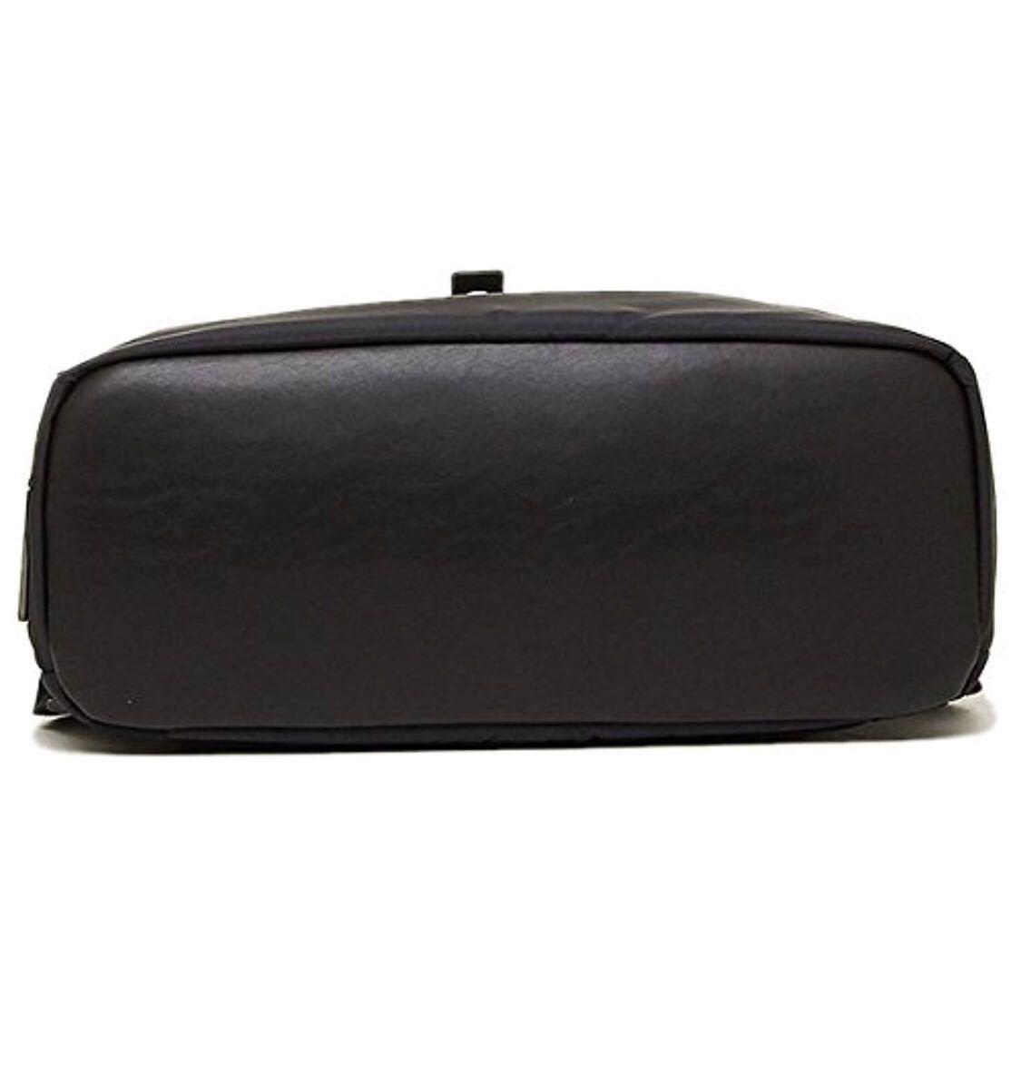 超美品 TUMI HAYDON ELIAS FLAP BACKPACK 64002NVY トゥミ イライアス フラップ バックパック メンズ 紺×黒 2WAY リュック_画像5