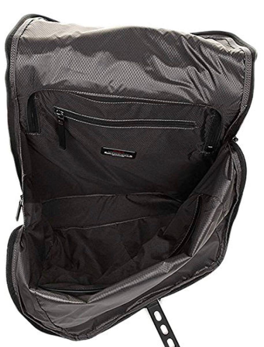 超美品 TUMI HAYDON ELIAS FLAP BACKPACK 64002NVY トゥミ イライアス フラップ バックパック メンズ 紺×黒 2WAY リュック_画像4