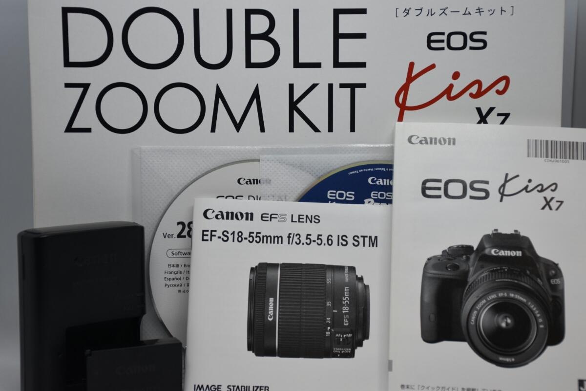【Canon】EOS Kiss X7ダブルズームキット 中古 キャノン_画像9