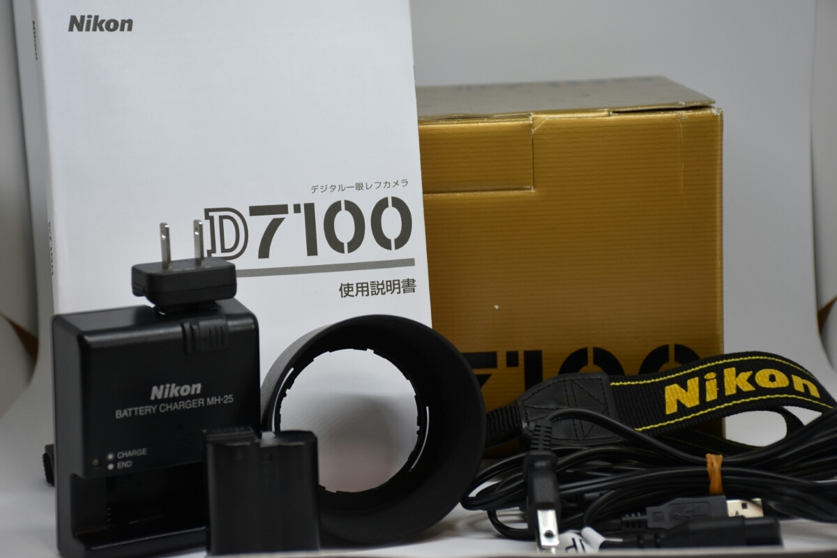 1円~ Nikon D7100ボディ レンズ2本セット 付属品多数 元箱あり 動作確認OK 美品_画像10
