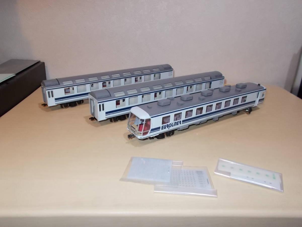 希少 ジョイフルトレイン カツミ 12系 ユーロライナーカートレイン(貨車別) 3両セット!
