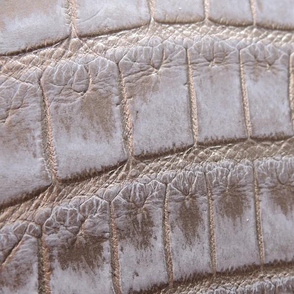 新品 本物 【クロコダイル 長財布 】ラウンドファスナー マット 吟スリ クロコ 財布 金 銀 色 メンズ 財布 genuine crocodile_画像6