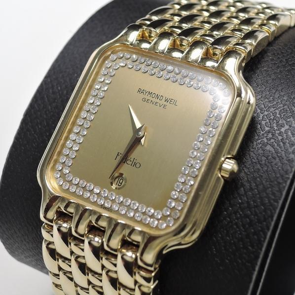 1円 RAYMOND WEIL Fidelio 【レイモンドウィル フィデリオ】 4704 メンズ ウォッチ 18K GP ゴールド 角型 時計 腕時計_画像3